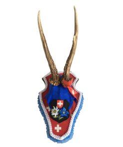 Enzianblau-rotes Rehböcklein Rotkreuz