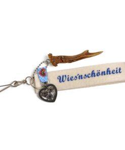 Schlüsselanhänger mit Filzband und Geweihstange