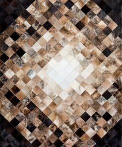Kuhfell Mosaikteppiche