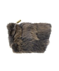 Etui-Kaninfell-grau