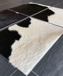Tischset aus Kuhfell