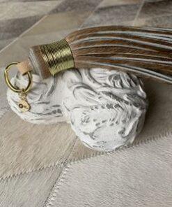 Schlüsselanhänger aus Kuhfell